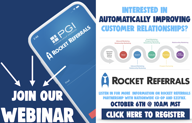 9/28/2020 - 🚀Interested in Automatically Improving Customer Relationships? Join our webinar event with ROCKET REFERRALS on October 6th, 2020!