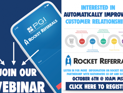 2/25/2021 - 🚀Interested in AUTOMATICALLY improving customers relationships? Join us for a Rocket Referrals/PGI Webinar!